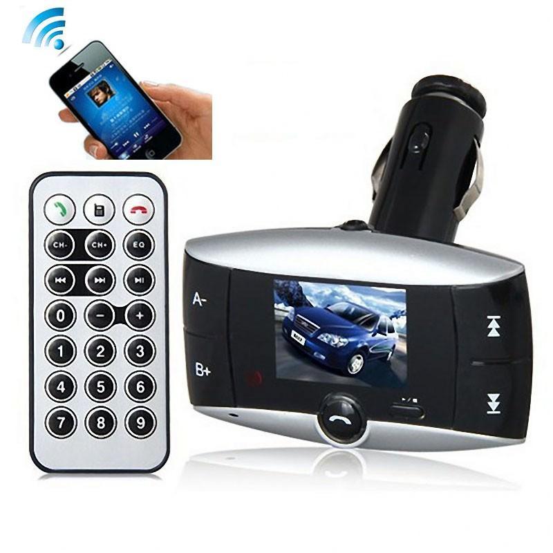 Автомобильный Bluetooth-трансмиттер (FM-передатчик) + USB зарядное Egtong с пультом ДУ: поддержка Micro SD 165312
