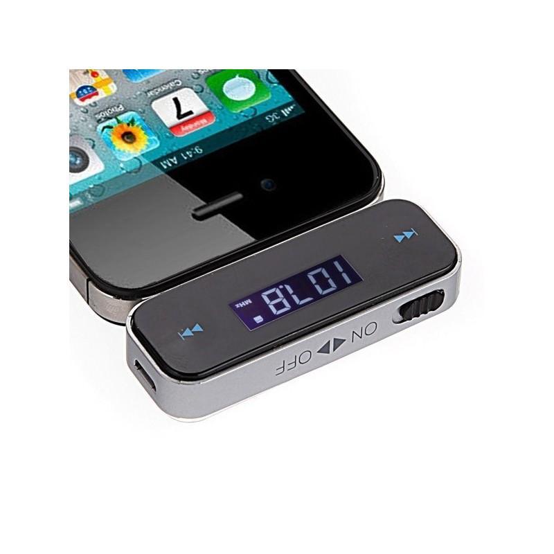 Автомобильный FM-передатчик с 3,5 мм штекером: встроенная батарея, ЖК-дисплей 165323