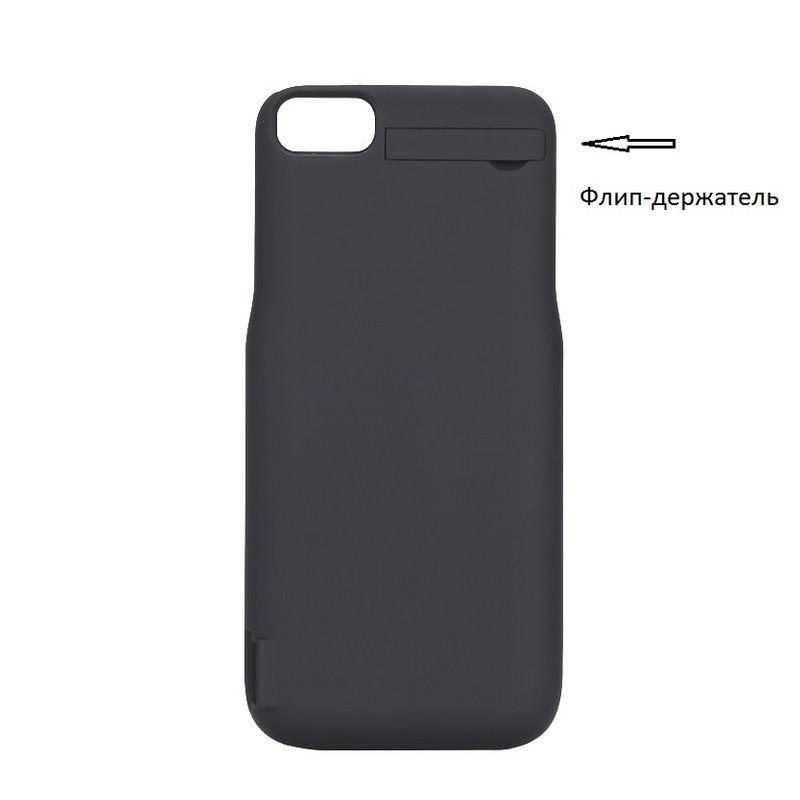 Батарея-чехол для iPhone 6, 6S, 7 – 5500 мАч, индикатор зарядки, дополнительный USB порт 165333