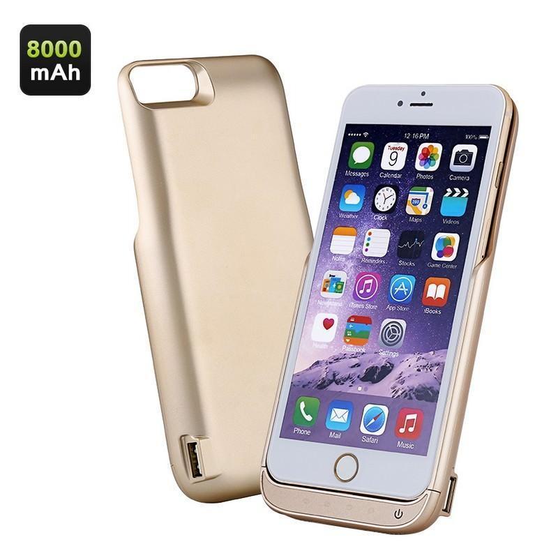 Чехол-батарея для iPhone 6 Plus и 7 Plus – 8000 мАч, индикаторы заряда, дополнительный USB порт