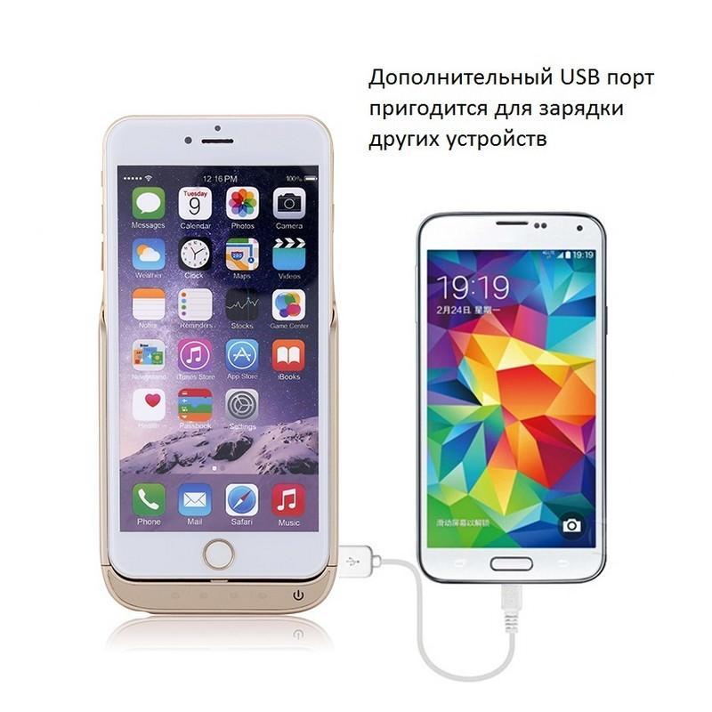 Чехол-батарея для iPhone 6 Plus и 7 Plus – 8000 мАч, индикаторы заряда, дополнительный USB порт 165384