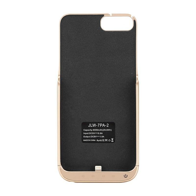 Чехол-батарея для iPhone 6 Plus и 7 Plus – 8000 мАч, индикаторы заряда, дополнительный USB порт 165385