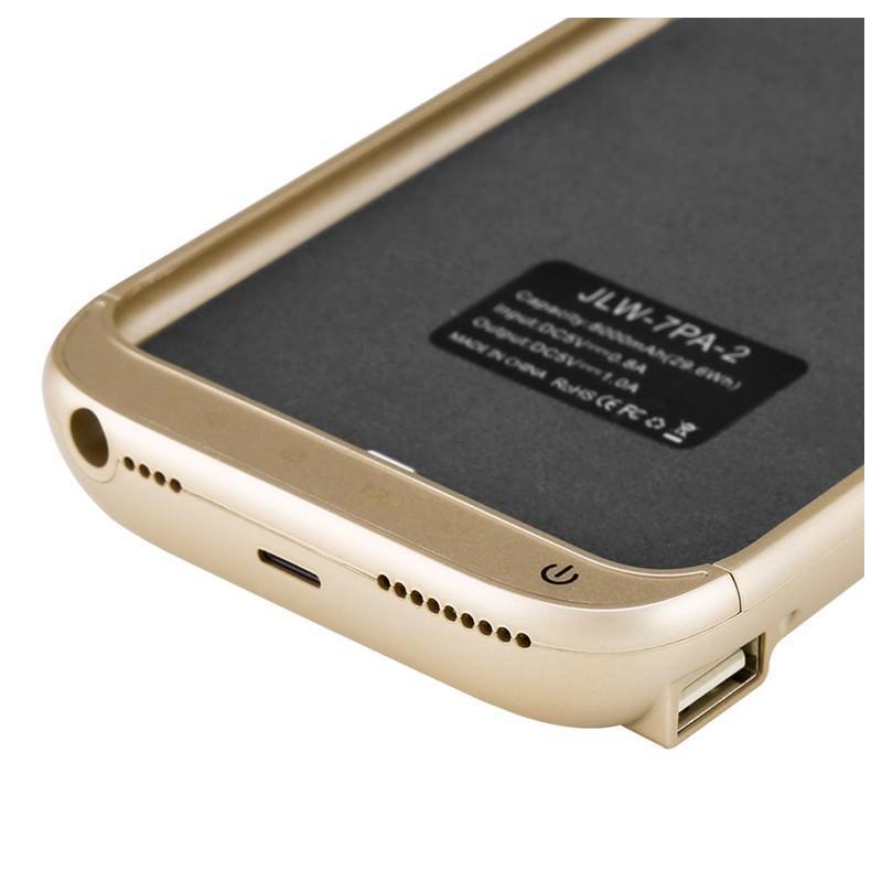 Чехол-батарея для iPhone 6 Plus и 7 Plus – 8000 мАч, индикаторы заряда, дополнительный USB порт 165389