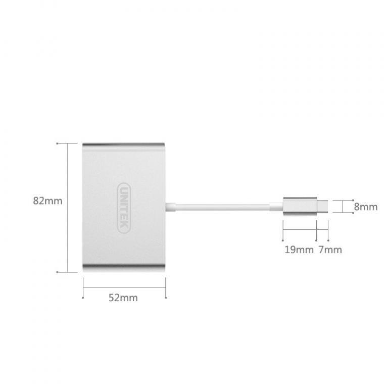 23020 - USB-концентратор + VGA-переходник + адаптер питания для устройств с портом USB Type-C: 2 х USB 2.0, USB3.0