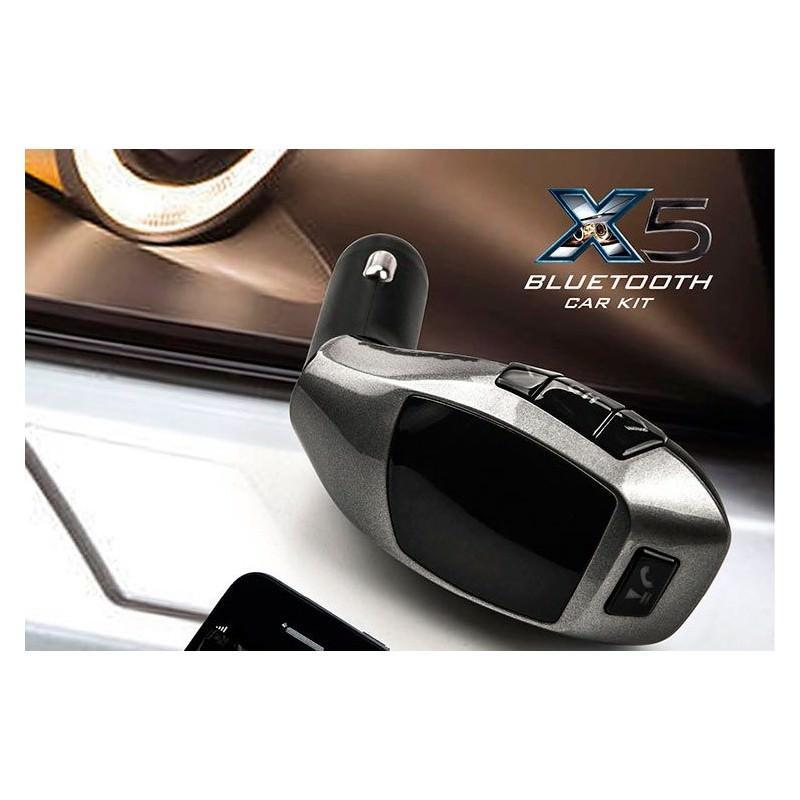 Универсальный автомобильный Bluetooth-трансмиттер (FM-передатчик) + USB зарядное Х5: поддержка Micro SD, флешки 165514