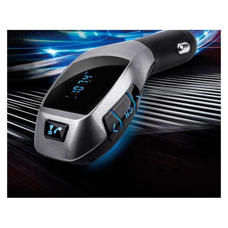 Универсальный автомобильный Bluetooth-трансмиттер (FM-передатчик) + USB зарядное Х5: поддержка Micro SD, флешки 165517