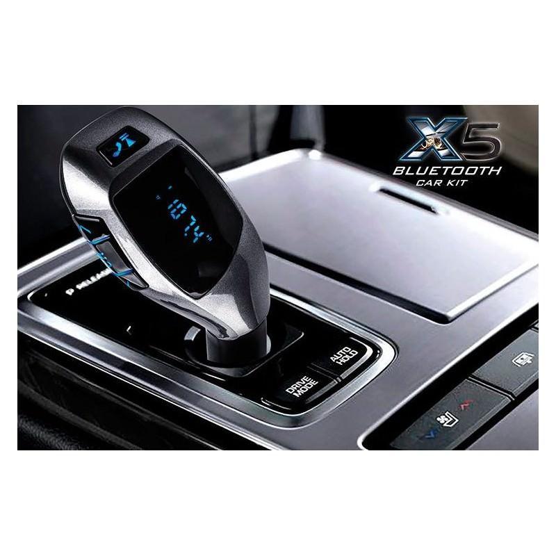 Универсальный автомобильный Bluetooth-трансмиттер (FM-передатчик) + USB зарядное Х5: поддержка Micro SD, флешки 165518
