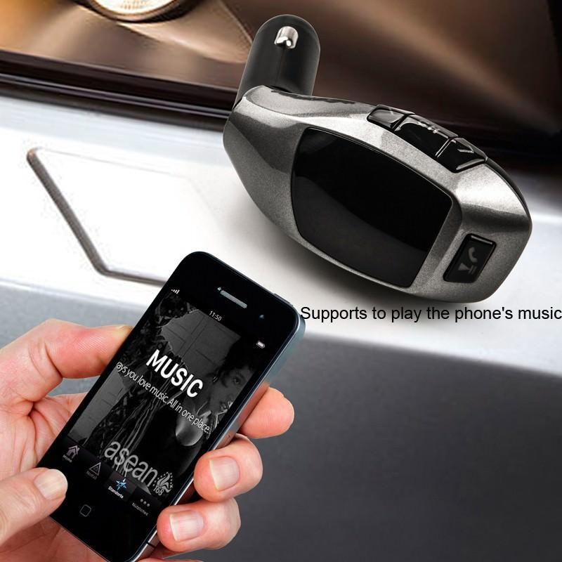 Универсальный автомобильный Bluetooth-трансмиттер (FM-передатчик) + USB зарядное Х5: поддержка Micro SD, флешки 165522