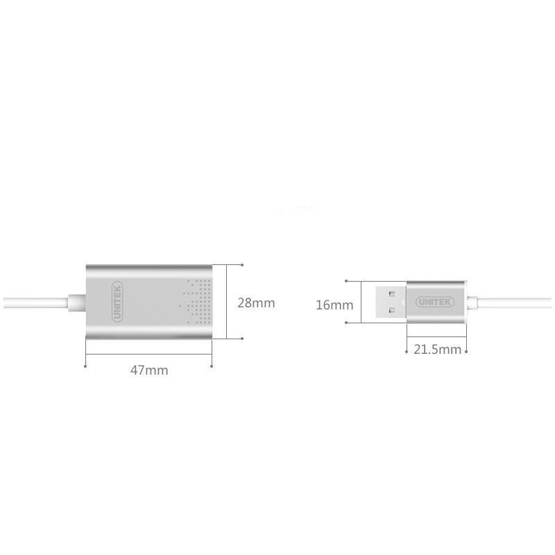 USB-переходник на два аудиоразъема Unitek Y-247 165588