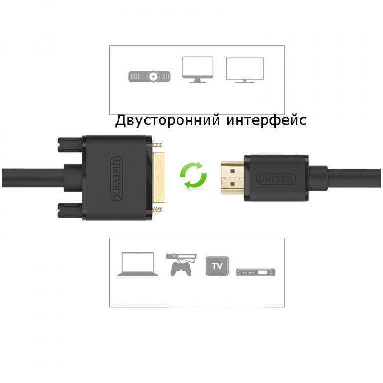 23208 - Кабель-переходник высокой четкости с HDMI на DVI/ с DVI на HDMI
