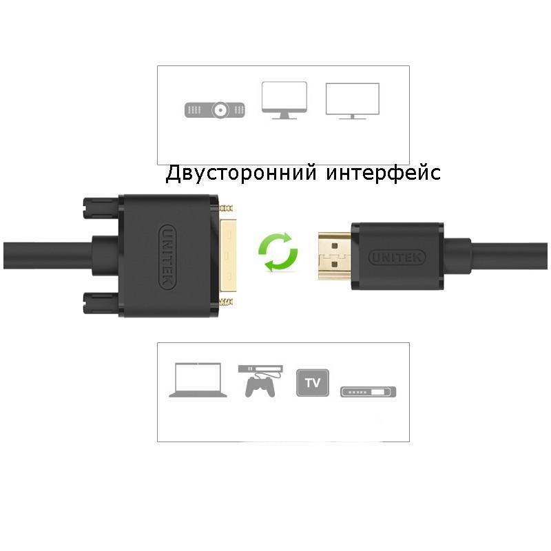 Кабель-переходник высокой четкости с HDMI на DVI/ с DVI на HDMI 165645