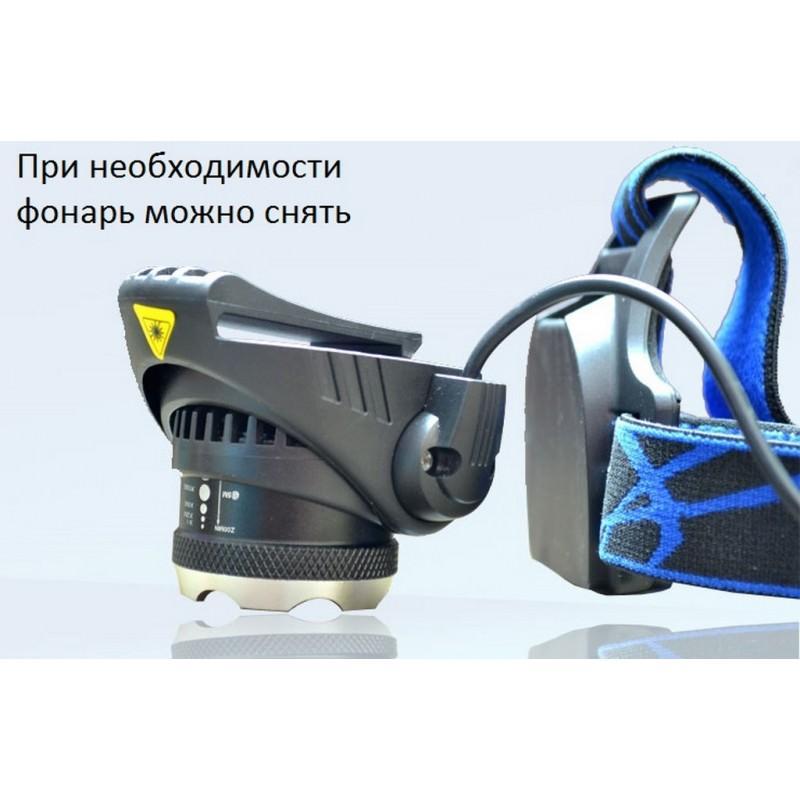 Мощный налобный фонарь T90-V9 – CREE XLamp-L2 T6, 4000 мАч, до 20 часов работы 165767