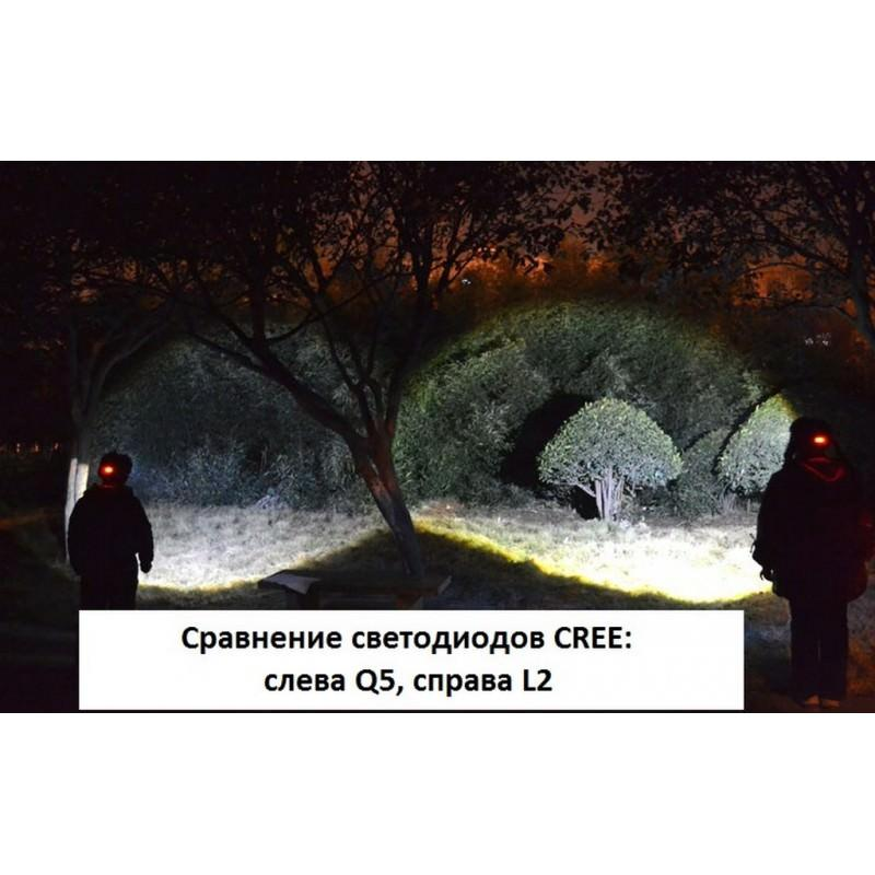 Мощный налобный фонарь T90-V9 – CREE XLamp-L2 T6, 4000 мАч, до 20 часов работы 165771