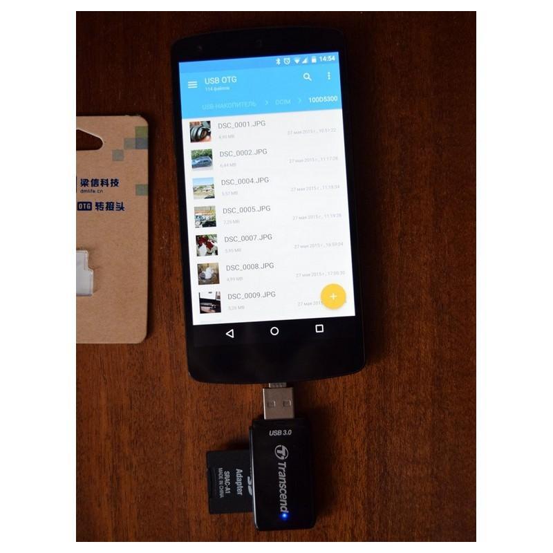 Компактный micro USB/OTG адаптер DM для смартфона и планшета 165961