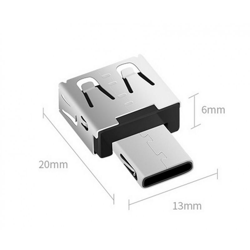 Мини-адаптер USB Type-C на USB от DM 166037