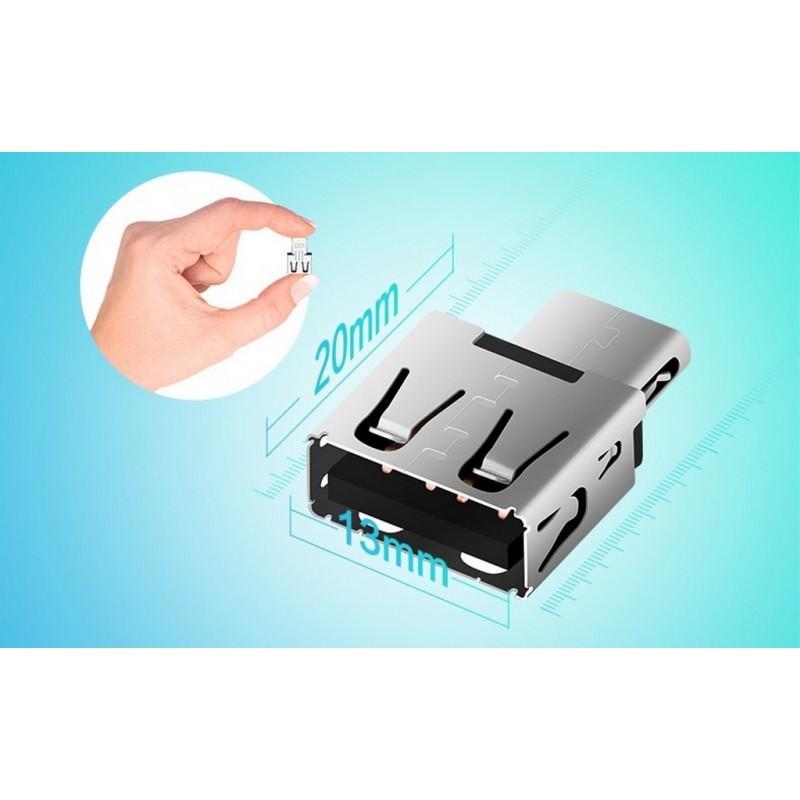 Мини-адаптер USB Type-C на USB от DM 166040