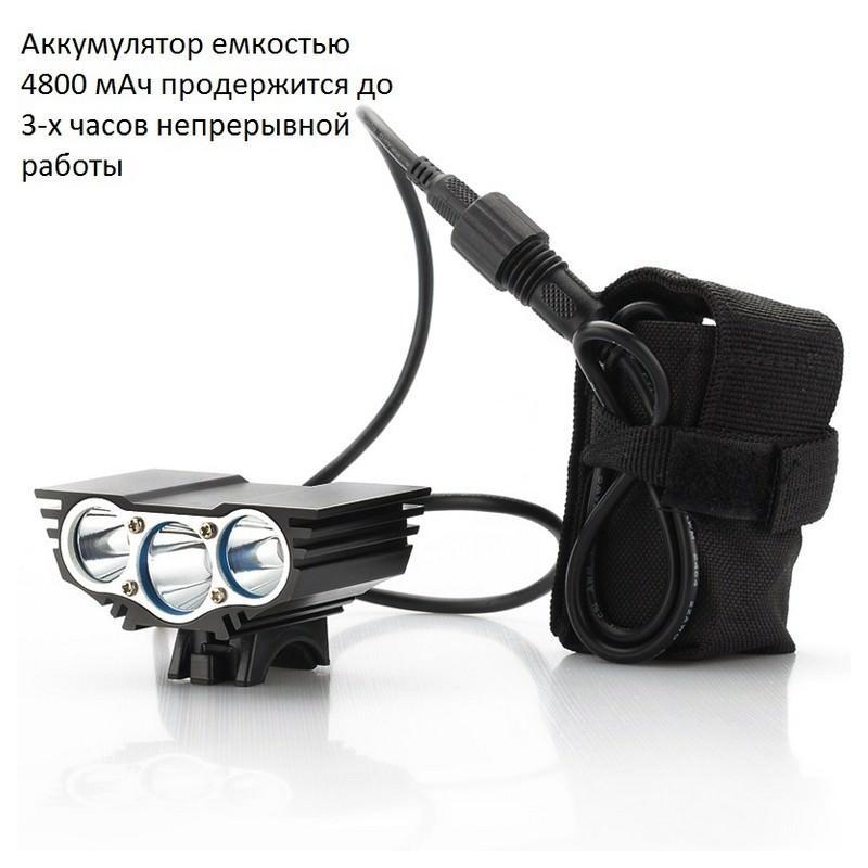 Велосипедный фонарь и задняя фара RoadRunner II – 3 х CREE XM-L U2, до 5000 люмен, крепления в комплекте 166193