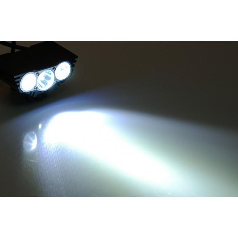 Велосипедный фонарь и задняя фара RoadRunner II – 3 х CREE XM-L U2, до 5000 люмен, крепления в комплекте 166195