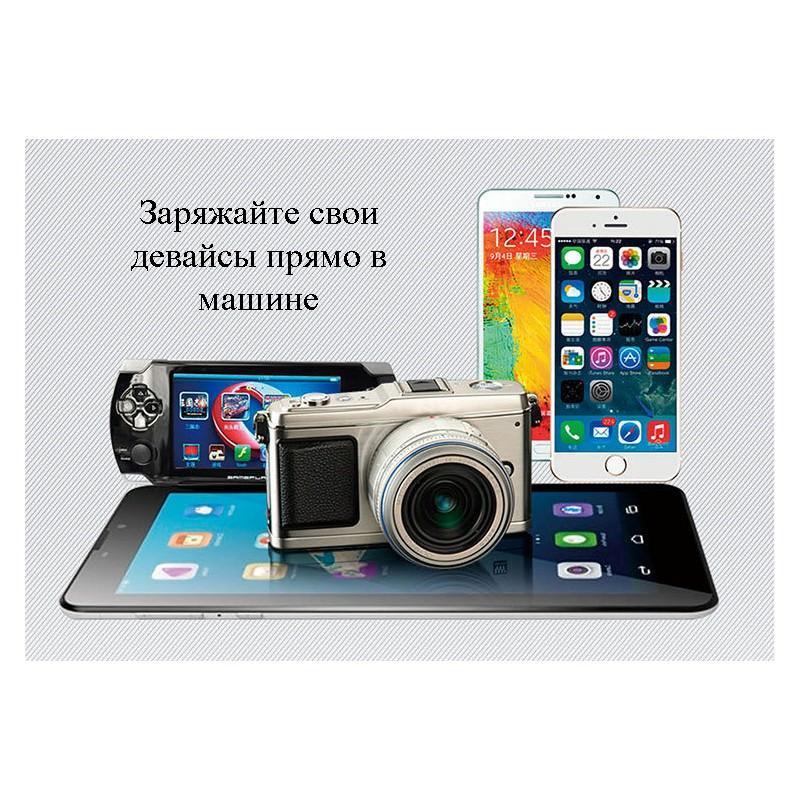 Автомобильный Bluetooth-передатчик (FM-трансмиттер) с USB-зарядным: поддержка TF-карты, прием/отклонение звонков 166308