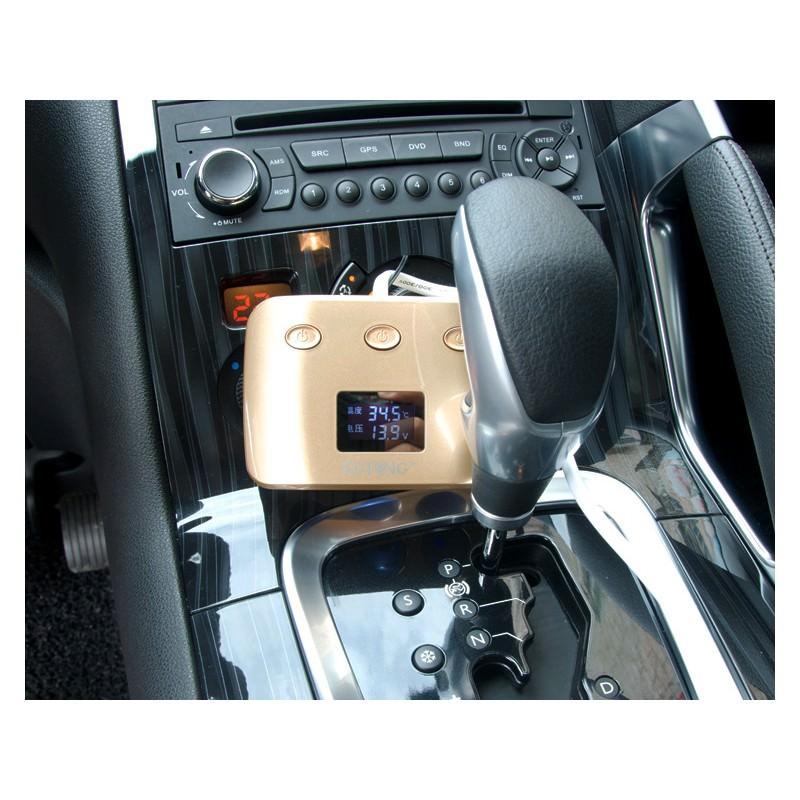 Автомобильное USB-зарядное на 2 USB-выхода + разветвитель для автомобильного прикуривателя Egtong с автономным выключателем 166360