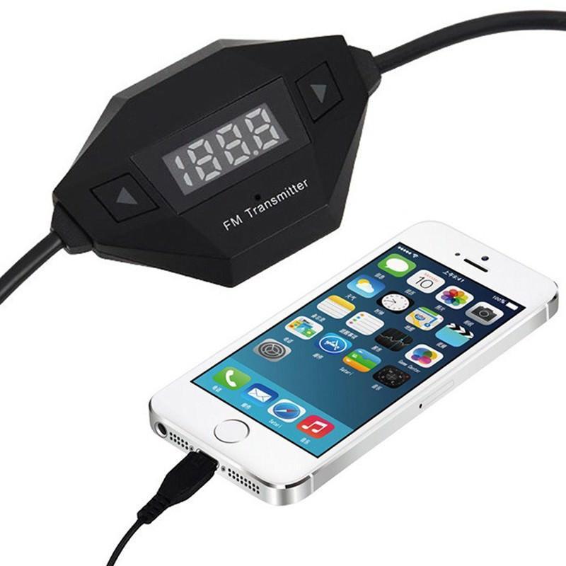 Автомобильный FM-трансмиттер с аудиоразъемом 3,5 мм + USB-зарядное 166402