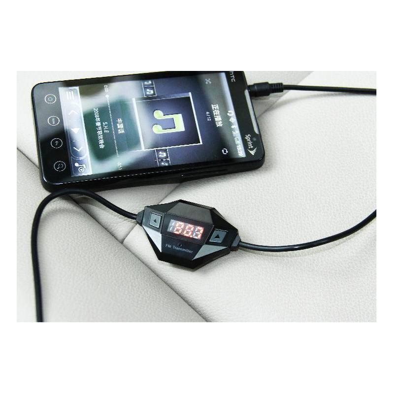 Автомобильный FM-трансмиттер с аудиоразъемом 3,5 мм + USB-зарядное 166403