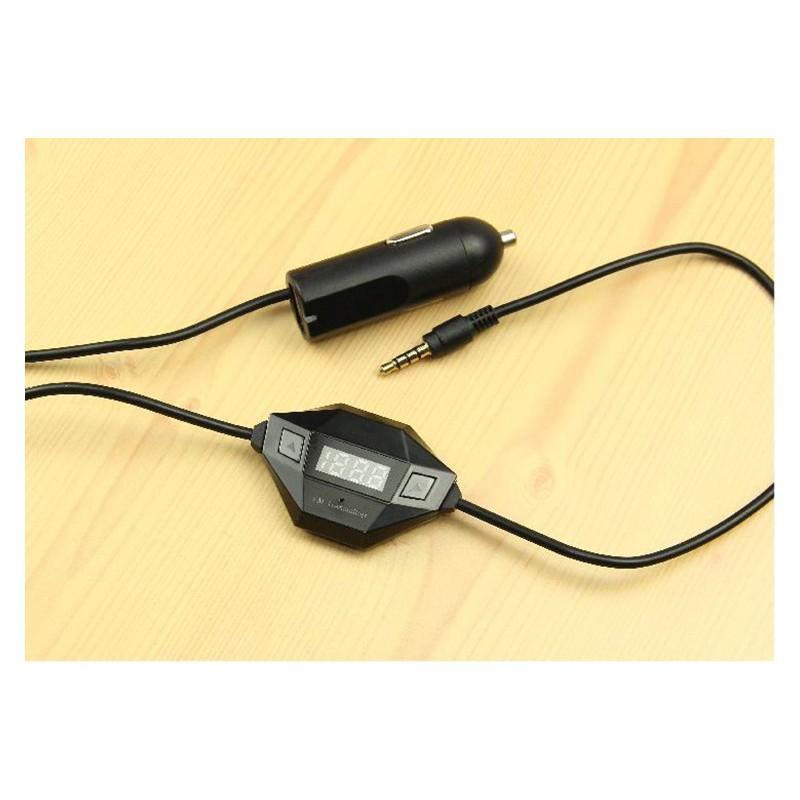 Автомобильный FM-трансмиттер с аудиоразъемом 3,5 мм + USB-зарядное 166404