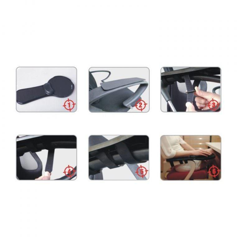 23927 - Эргономичная подставка под руку с ковриком для мыши: подушка из memory foam, профилактика туннельного синдрома кисти