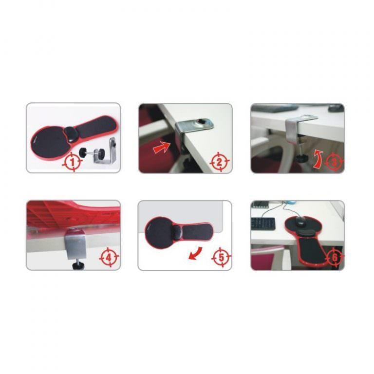 23928 - Эргономичная подставка под руку с ковриком для мыши: подушка из memory foam, профилактика туннельного синдрома кисти