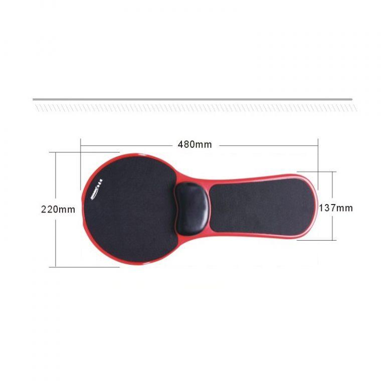 23942 - Эргономичная подставка под руку с ковриком для мыши: подушка из memory foam, профилактика туннельного синдрома кисти