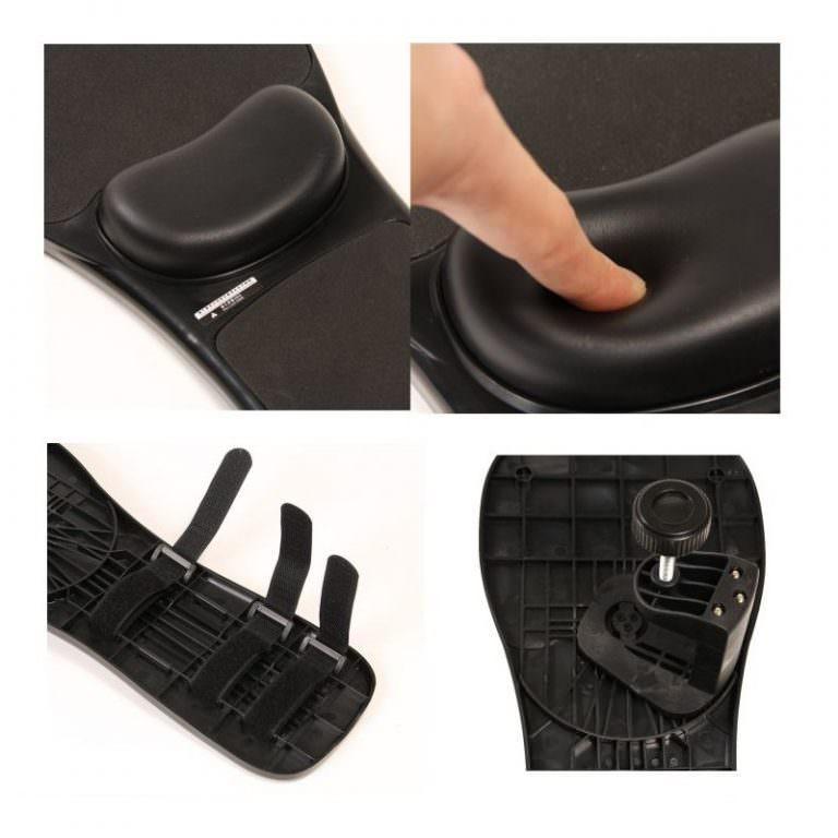 23944 - Эргономичная подставка под руку с ковриком для мыши: подушка из memory foam, профилактика туннельного синдрома кисти