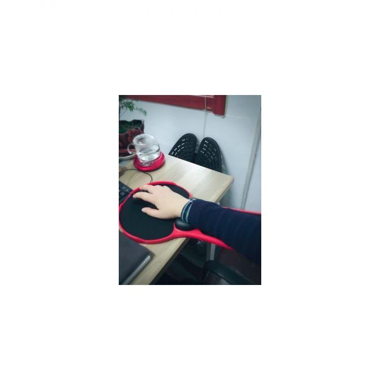 23946 - Эргономичная подставка под руку с ковриком для мыши: подушка из memory foam, профилактика туннельного синдрома кисти