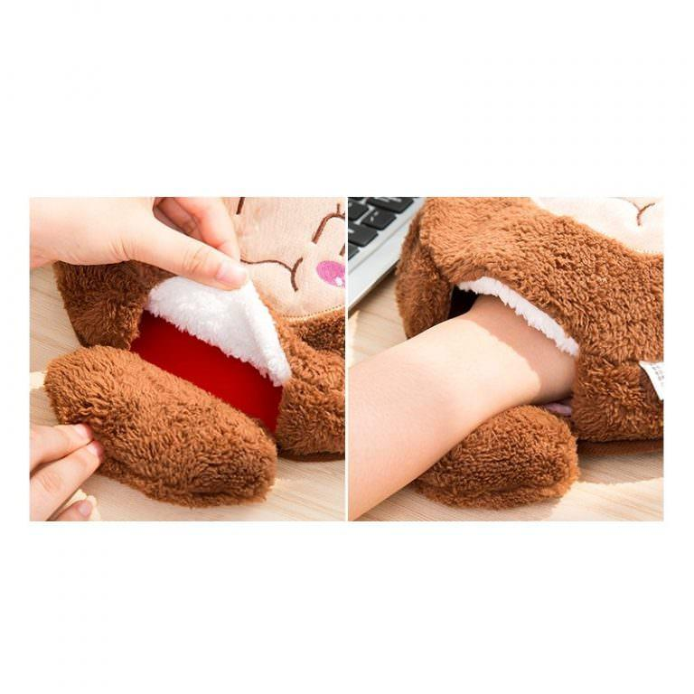 24041 - Плюшевая грелка + коврик для мыши Рукогрейка