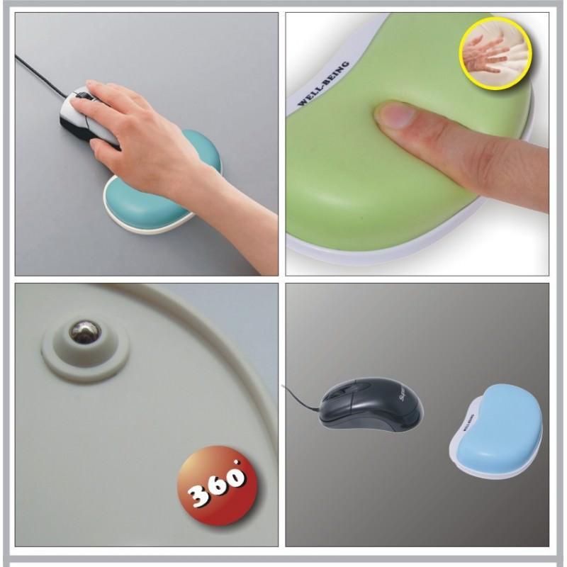 Эргономичный коврик для мышки U-LITA: колесики, поддержка для запястья из Memory Foam, профилактика туннельного синдрома 166697