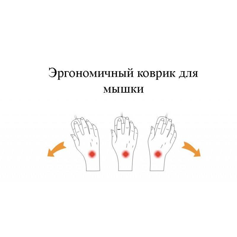 Эргономичный коврик для мышки U-LITA: колесики, поддержка для запястья из Memory Foam, профилактика туннельного синдрома 166704