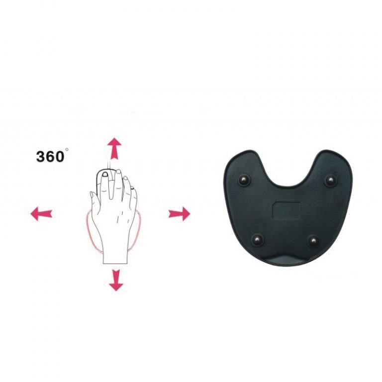 24152 - Эргономичный коврик для мышки U-LITA: колесики, поддержка для запястья из Memory Foam, профилактика туннельного синдрома