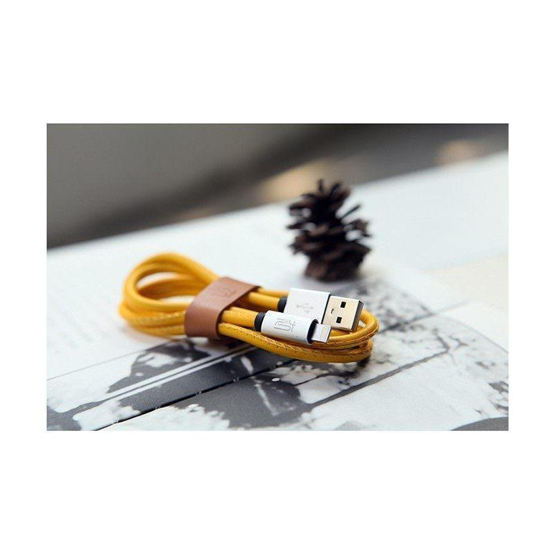 Высокоскоростной кожаный USB-кабель для IPhone: Lightning (8-контактный) разъем