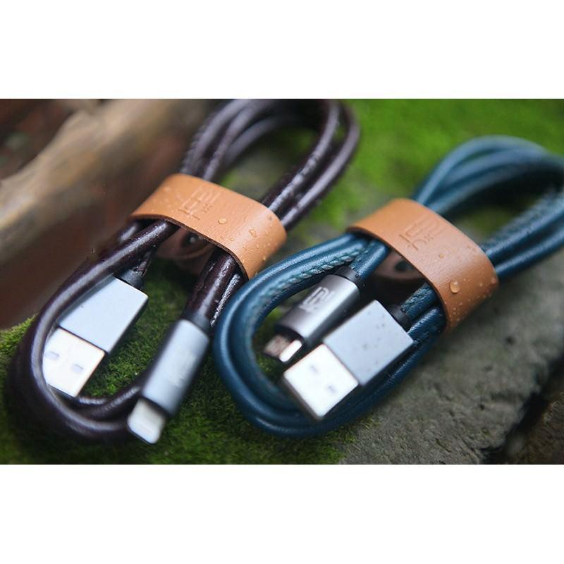 Кожаный высокоскоростной USB-кабель: Micro USB, выходной ток 2,4 А 166902