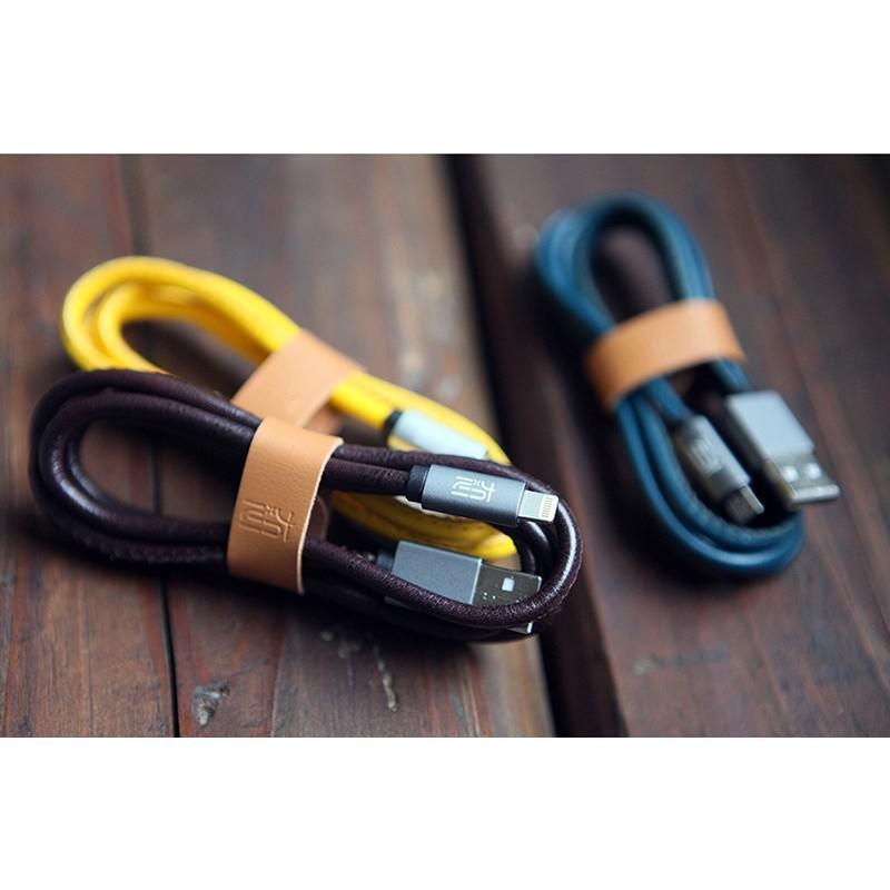 Кожаный высокоскоростной USB-кабель: Micro USB, выходной ток 2,4 А 166904
