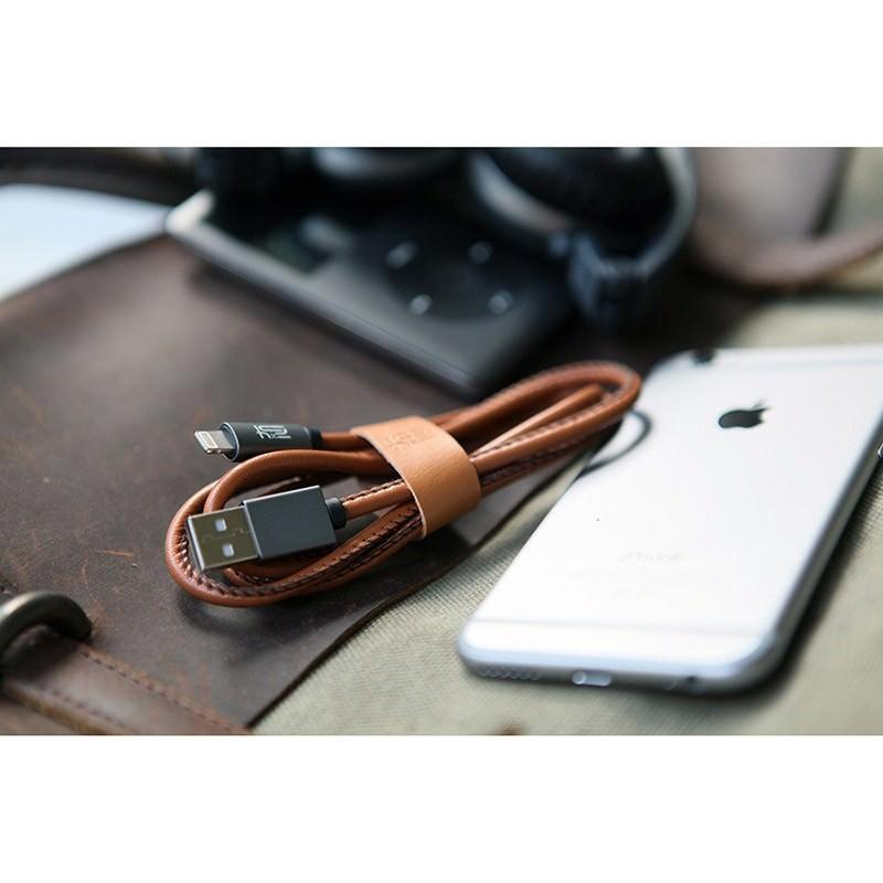 Кожаный высокоскоростной USB-кабель: Micro USB, выходной ток 2,4 А 166910
