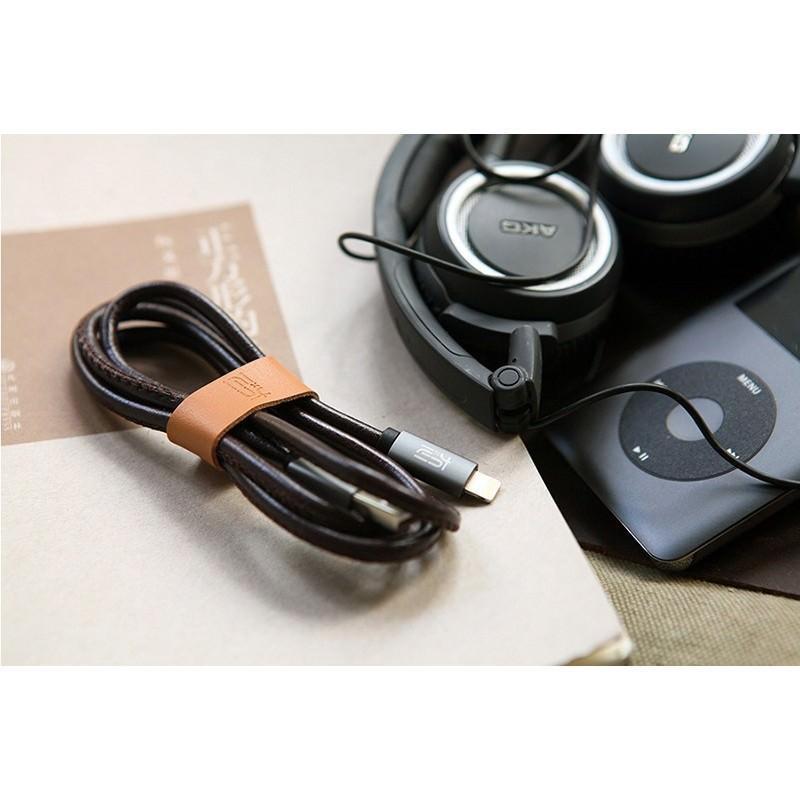 Кожаный высокоскоростной USB-кабель: Micro USB, выходной ток 2,4 А 166912