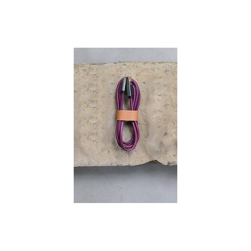 Кожаный высокоскоростной USB-кабель: Micro USB, выходной ток 2,4 А 166913