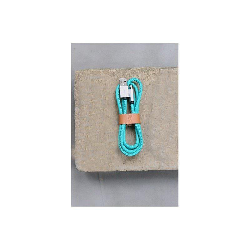 Кожаный высокоскоростной USB-кабель: Micro USB, выходной ток 2,4 А
