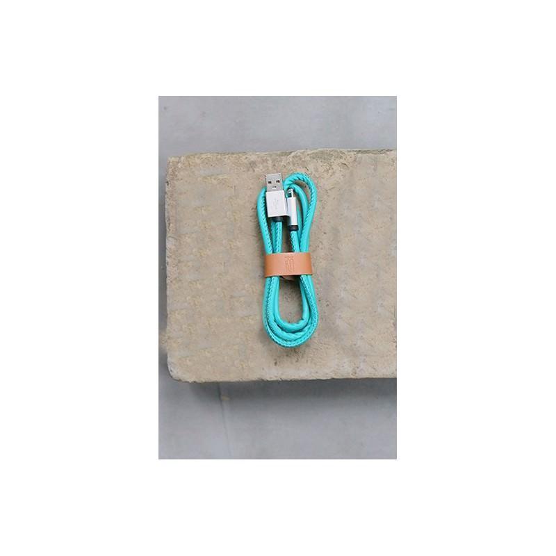 Кожаный высокоскоростной USB-кабель: Micro USB, выходной ток 2,4 А 166914