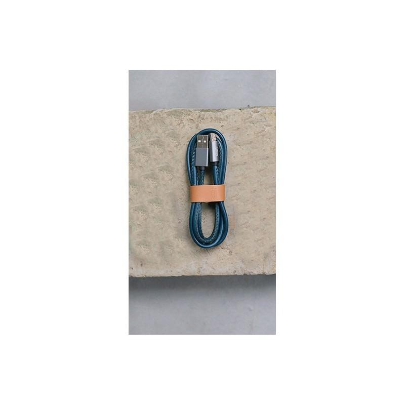Кожаный высокоскоростной USB-кабель: Micro USB, выходной ток 2,4 А 166915