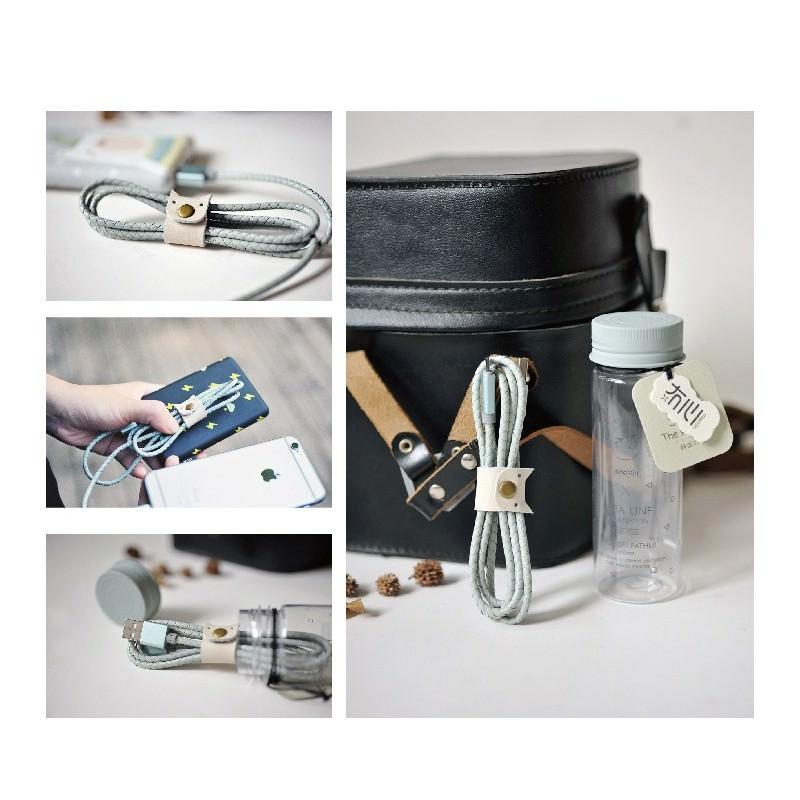 Симпатичный кожаный USB-кабель: Micro USB, выходной ток 2,4 А 166938