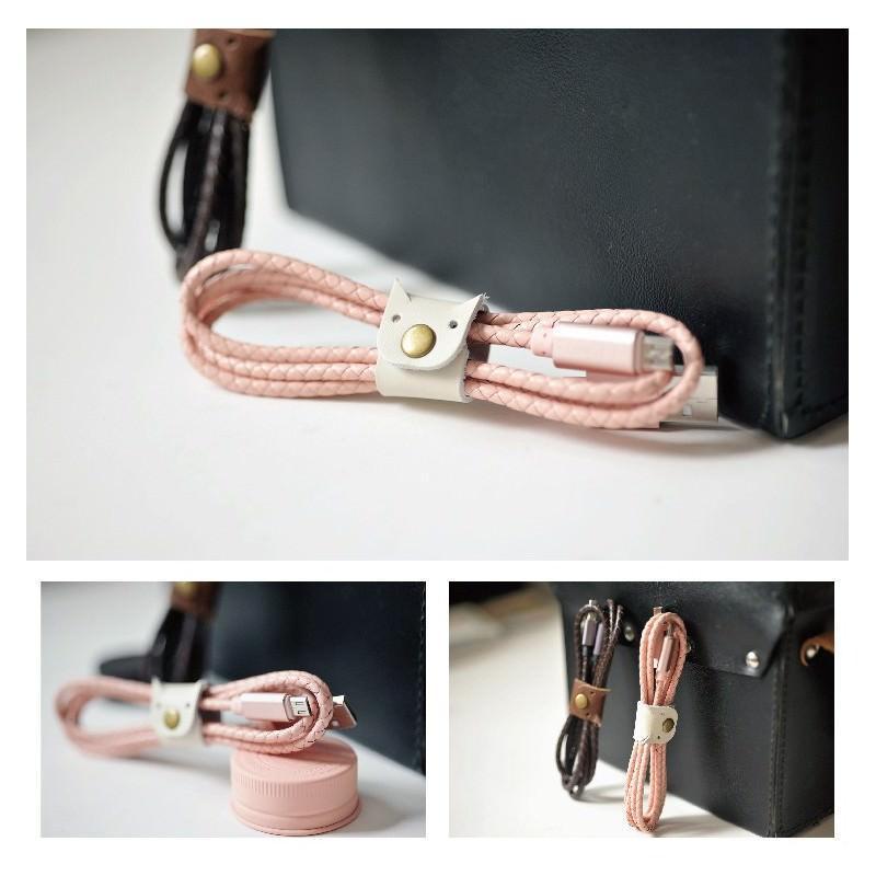 Симпатичный кожаный USB-кабель: Micro USB, выходной ток 2,4 А 166941