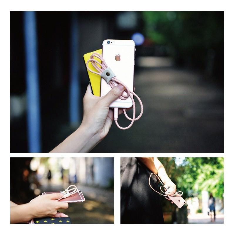 Симпатичный кожаный USB-кабель: Micro USB, выходной ток 2,4 А 166943
