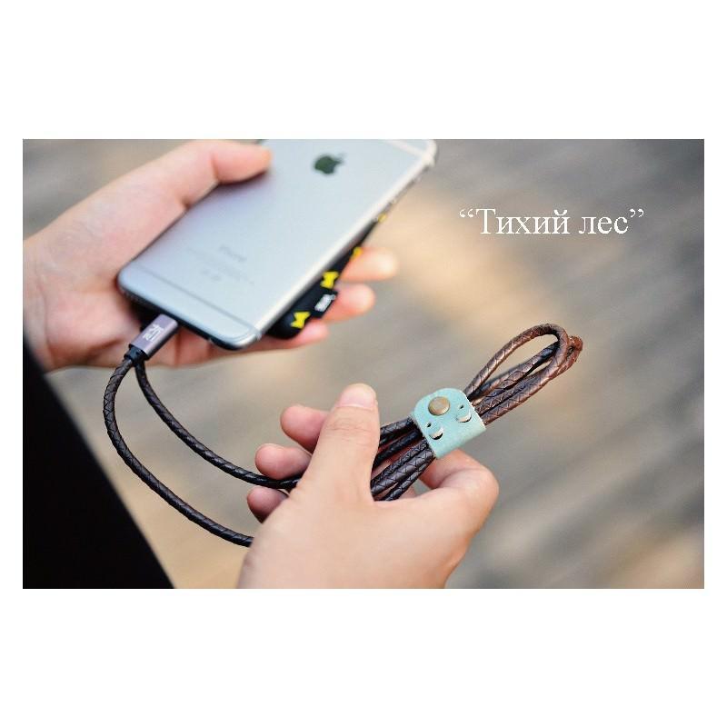 Симпатичный кожаный USB-кабель: Micro USB, выходной ток 2,4 А 166944