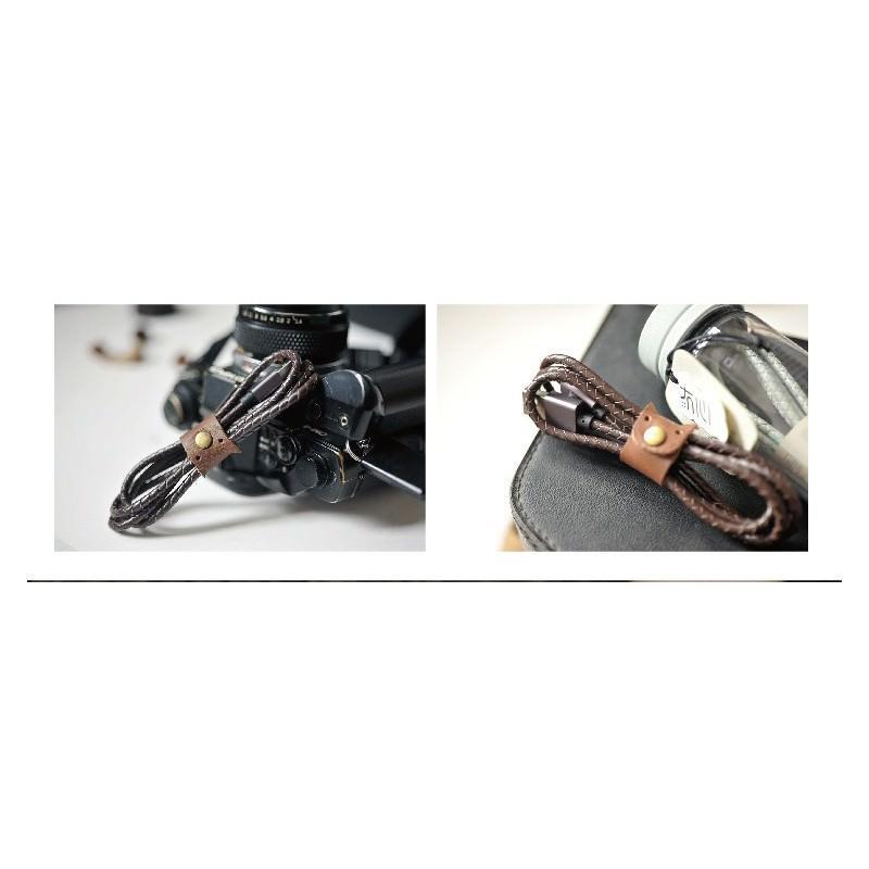 Симпатичный кожаный USB-кабель: Micro USB, выходной ток 2,4 А 166949